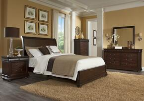 Parkview 398QSBDMN 4-Piece Bedroom Set with Queen Sleigh Bed, Dresser, Mirror and Nightstand in Bourbon Color
