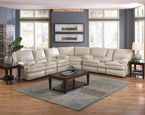 Perez Collection 64141-8-9-1262-01/3062-01 3-Piece Sectional with Power Reclining Sofa, Wedge and Power Reclining Loveseat in Ice