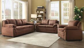 G282SET 3 PC Living Room Set with Sofa + Loveseat + Armchair in Chocolate Color