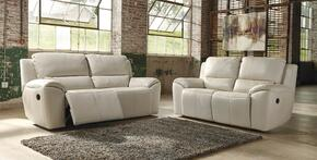 Valeton U73500SL 2-Piece Living Room Set with Reclining Sofa and Reclining Loveseat in Cream Color