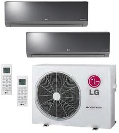 LMU24CHVPACKAGE3 Dual Zone Mini Split Air Conditioner System with 24000 BTU Cooling Capacity, 2 Indoor Units, and Outdoor Unit