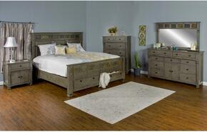 Scottsdale Collection 2322CGQBDMNC 5-Piece Bedroom Set with Queen Bed, Dresser, Mirror, Nightstand and Chest in Cadet Gray Finish