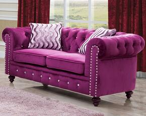 Cosmos Furniture CAMILALOVESEATPURPLEVELVET