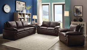 G285SET 3 PC Living Room Set with Sofa + Loveseat + Armchair in Cappuccino Color