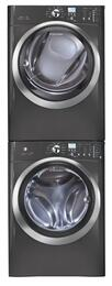 """Titanium Front Load Laundry Pair with EIFLS60LT 27"""" Washer, EIMED60LT 27"""" Electric Dryer and STACKIT4X Stacking Kit"""