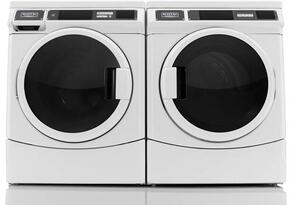 "2 Piece Laundry Pair with MHN33PRCWW 27"" Front Load Washer and MDG28PRCWW 27"" Gas Dryer in White"