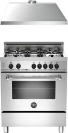 "2-Piece Stainless Steel Kitchen Package with MAS304GASXE 30"" Freestanding Gas Range and KU30PRO1XV 30"" 400 CFM Range Hood"