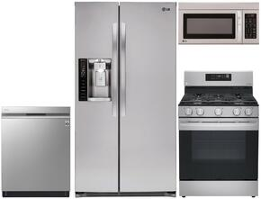 4-Piece Stainless Steel Kitchen Package with LSXS26326S 36