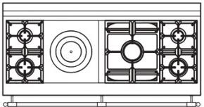 150 US K1 Cooktop Configuration w...