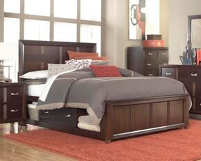 Eastlake 2 Collection 4 Piece Bedroom Set With Queen Size Storage Panel Bed + 1 Nightstands + Dresser + Mirror: Cherry