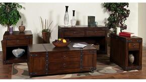 3211DC-CKIT1 Santa Fe Coffee Table with End Table and Sofa/Console Table in Dark Chocolate Finish