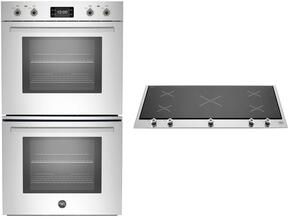 "Professional 2-Piece Stainless Steel Kitchen Package with PROFD30XT 30"" Double Wall Oven and PM360IGX 36"" Induction Cooktop"