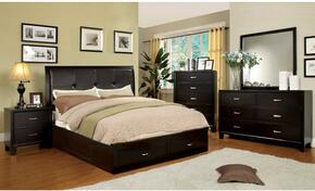 Enrico III Collection CM7066EXCKBEDSET 5 PC Bedroom Set with California King Size Platform Bed + Dresser + Mirror + Chest + Nightstand in Espreso Finish