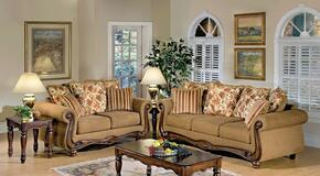 Olysseus 50310SL 2 PC Living Room Set with Sofa + Loveseat in Brown Color