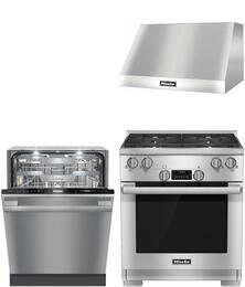 3-Piece Stainless Steel Kitchen Package with HR1124G 30