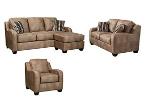 Alturo 60003QSSLC 3-Piece Living Room Set with Queen Sofa Chaise Sleeper, Loveseat and Armchair in Dune