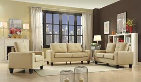 Newbury Collection G462ASET 3 PC Living Room Set with Sofa + Loveseat + Armchair in Beige Color