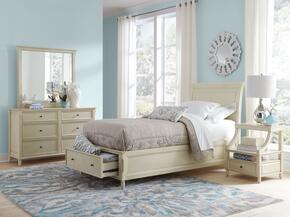 Avignon Youth Collection 1617FPBDMN 4-Piece Bedroom Set with Full Storage Bed, Dresser, Mirror and Nightstand in Ivory