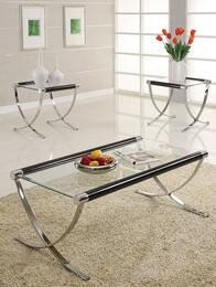 Ola 18420CET 3 PC Living Room Table Set with Coffee Table + 2 End Tables in Chrome Plated Finish