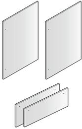 "Set of 4 Door Panels for 80"" Installation, in Stainless Steel"