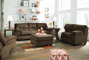 Dailey 95403-36-35-25-08 4-Piece Living Room Set with Full Sofa Sleeper, Loveseat, Recliner and Ottoman in Chocolate Brown