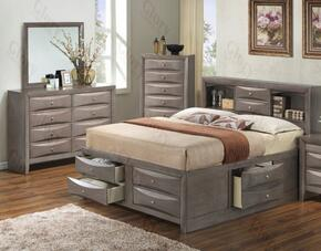 G1505GFSB3DM 3 Piece Set including  Full Size Bed, Dresser and Mirror in Gray