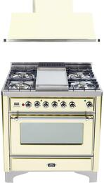 2-Piece Antique White Kitchen Package with UM90FDMPAX 36