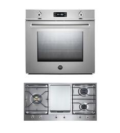 "Professional Series F30PROXT 30"" Single Electric Wall Oven 2-Piece Stainless Steel Kitchen Package with PM3630GX 36"" Gas Cooktop"