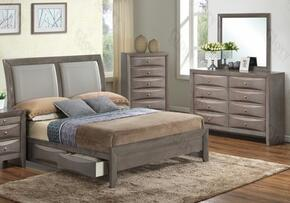 G1505DDFSB2DM 3 Piece Set including  Full Size Bed, Dresser and Mirror  in Gray