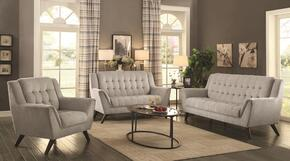 Baby Natalia Collection 511031 3-Piece Living Room Set with Sofa, Love Seat and Chair in Dove Grey