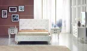 VIG Furniture VGKCMONTEWHTT