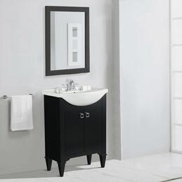 WLF6045-EKIT 24 Espresso Sink Vanity, No Faucet with Mirror
