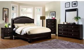 Winsor Collection CM7058CKBDMCN 5-Piece Bedroom Set with California King Bed, Dresser, Mirror, Chest, and Nightstand in Espresso Finish