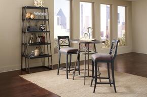 Vintage Tempo 402244SETB 4 PC Bar Table Set with Pub Table + 2 Bar Stools + Estagere in Black Color