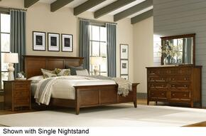 Westlake WSLCB5135 5-Piece Bedroom Set with King Panel Bed, Dresser, Mirror and 2 Nightstands in Cherry Brown Finish