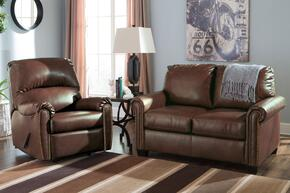 Lottie DuraBlend 380002537SET 2-Piece Living Room Set with Rocker Recliner and Twin Sofa Sleeper in Chocolate