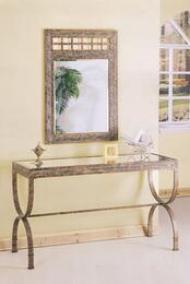 08633TM Egyptian Console Table + Mirror in Marble Finish
