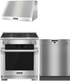 3-Piece Stainless Steel Kitchen Package with HR1924DF 30