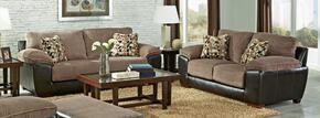 Pinson Collection 43982PCSTLKIT1CHA 2-Piece Living Room Sets with Stationary Sofa, and Loveseat in Chateau and Espresso