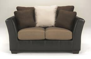 14201352PCKIT Masoli Two-Toned 2-Piece Living Room Set with Loveseat and Chair and a Half in Mocha