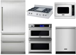 "5-Piece Stainless Steel Kitchen Package with VBI7360WRSS 36"" Bottom Freezer Refrigerator, VGRT5364GSSLP 36"" Liquid Propane Cooktop, LVDOT730SS 30"" Double Wall Oven, VMOC206SS 24"" Microwave w. 27"" Trim Kit, and FDW302WS 24"" Di"