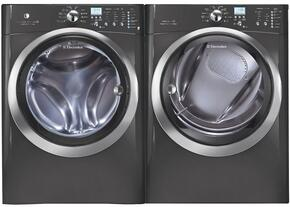 """Titanium Front Load Laundry Pair with EIFLS60LT 27"""" Washer and EIMED60LT 27"""" Electric Dryer"""