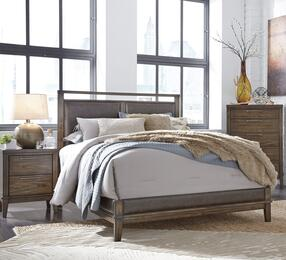 Larsen Collection Queen Bedroom Set with Panel Bed, and Nightstand