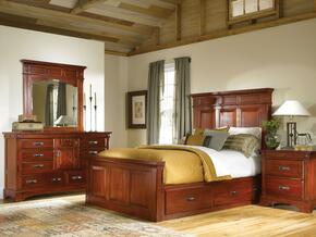 KALRM5031Q4P Kalispell 4-Piece Bedroom Set with Queen Sized Mantel Storage Bed, Dresser, Mirror and Single Nightstand