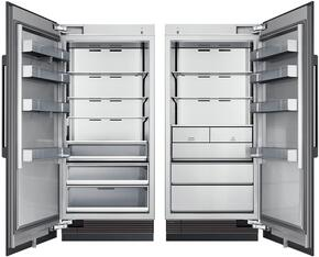 "72"" Panel Ready Side-by-Side Column Refrigerator Set with DRR36980LAP 36"" Left Hinge Refrigerator and DRZ36980RAP 36"" Right Hinge Freezer"