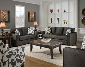 FS3560-SL Verona VI 2 Piece Bergen Living Room Set, Sofa + Loveseat, in Talbot Onyx