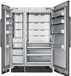 "54"" Panel Ready Side-by-Side Column Refrigerator Set with DRZ18980LAP 18"" Left Hinge Freezer, DRR36980RAP 36"" Right Hinge Refrigerator, and Installation Kit"
