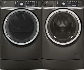 "Diamond Grey Front Load Laundry Pair with GFW490RPKDG 28"" Washer and GFD49GRPKDG 28"" Gas Dryer"