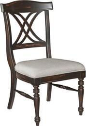 4026-581SET Mirren Pointe X-Back Set of 2 Side Chairs: Dark Chocolate