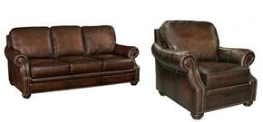 SS185 2-Piece Living Room Set with Sedona Chateau GS Sofa and Chair in Dark Brown